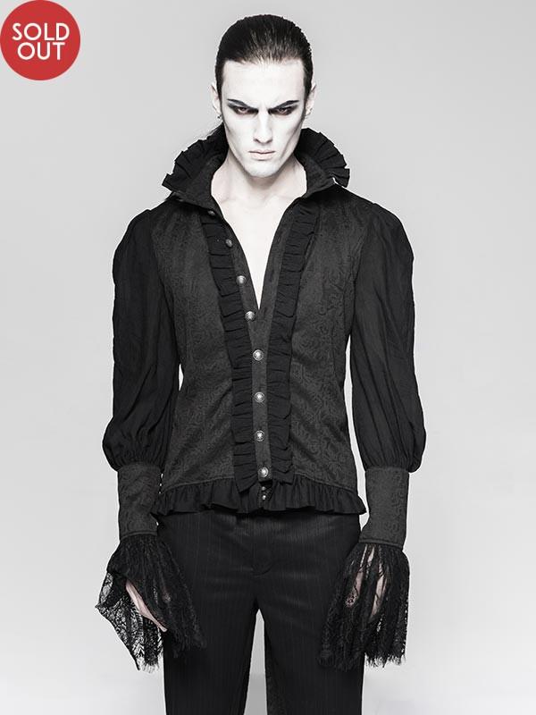 Mens Gothic Long Sleeve Dovetail Shirt