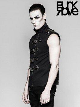 Mens Punk Armour Sleeveless Vest