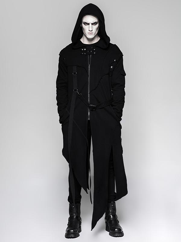 Mens 'Dark Series' Two-Wear Punk Hoodie Jacket