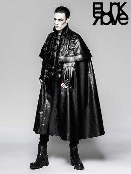 Mens Gothic Steampunk Long Cloak