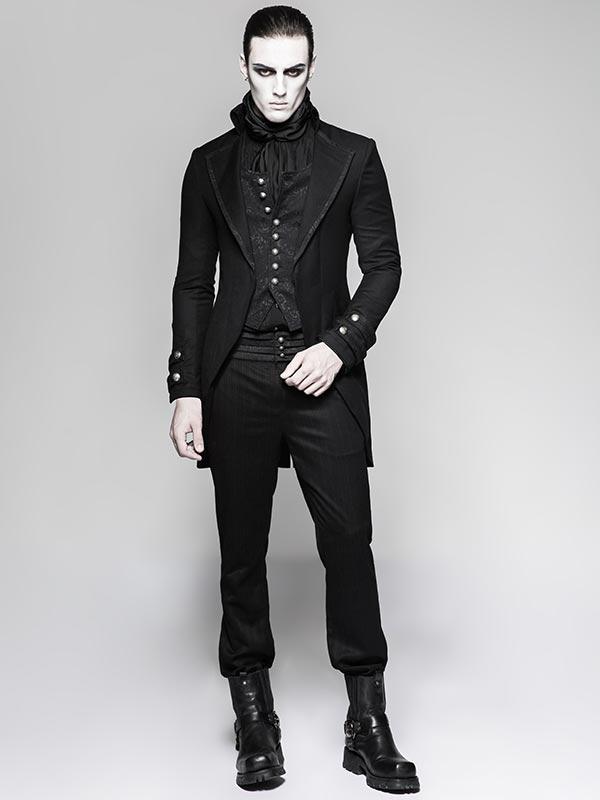 Mens Steampunk Fake Two-Piece Waistcoat Jacket