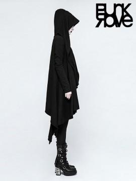 Gothic Drawstring Hoodie Jacket