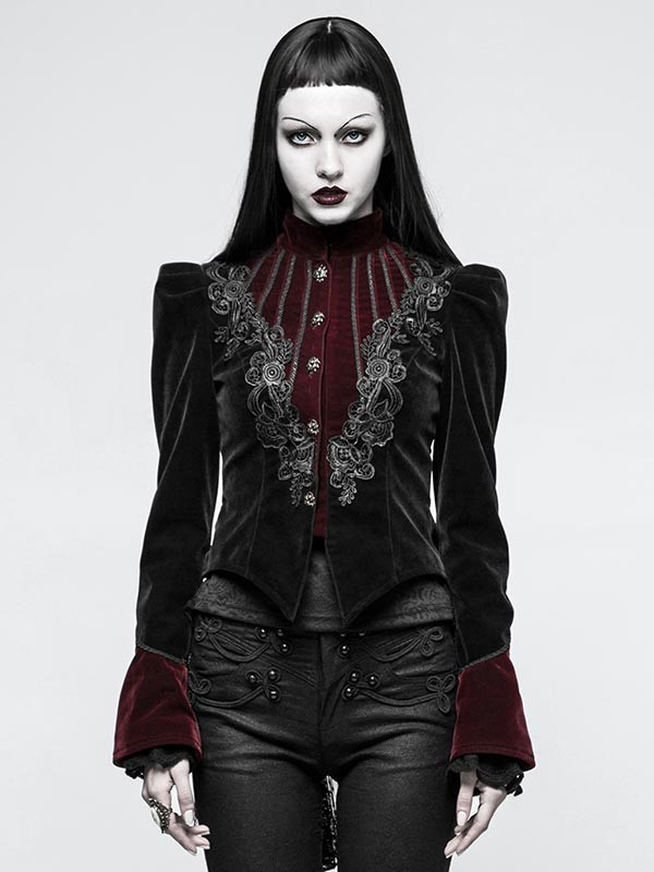 Luxurious Gothic Scissor-Tail Dress Jacket