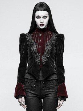 Luxurious Gothic Scissor-Tail Dress Jacket