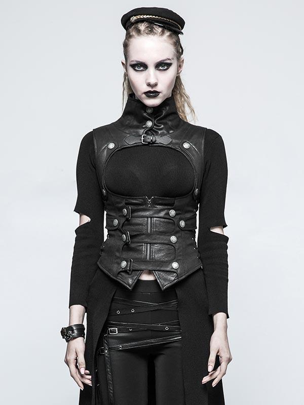 Steampunk Joker Waistcoat - Black