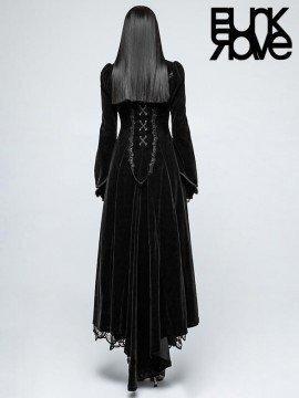 Gothic Palace Swallow Tail Long Dress Coat - Black