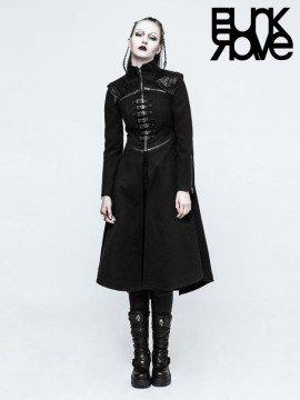 Steampunk Black Long Coat