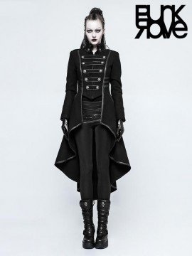 Gothic Military Swallow Tail Long Coat