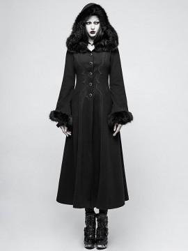 Gothic Disc Flowers Long Coat